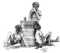 Ill. 21: Drawing of Aborigines abusing substances